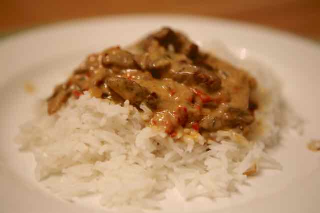 beef stroganoff by egletv close-up